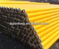 tianjin cheap yellow jacket pu foam hdpe insulation steel pipe