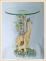 Factory Price Resin Animal Shape table of Giraffe Coffee Table, Glass Coffee Tables for Home Decoration
