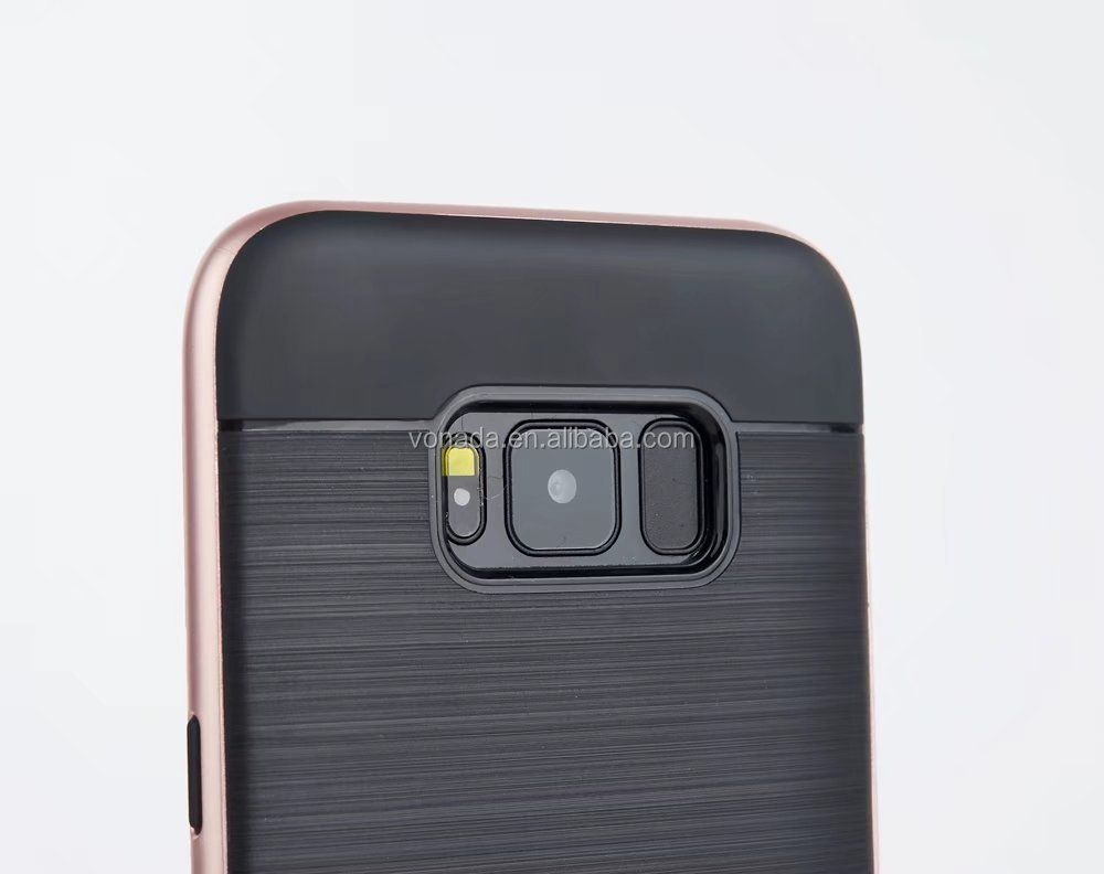 Luxury Brushed Back Kickstand Hybrid Armor Case for Samsung Galaxy S8