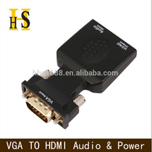 hot sell VGA male to HDMI female 1080P Video Converter Adapter