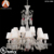 18 Light Baccarat Replica Crystal Chandelier with White Lampshade