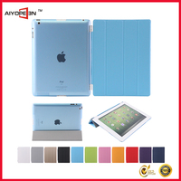 High Quality Ultra-thin Smart Magnetic PU Leather dust-proof case Cover for iPad 2/ 3 /4