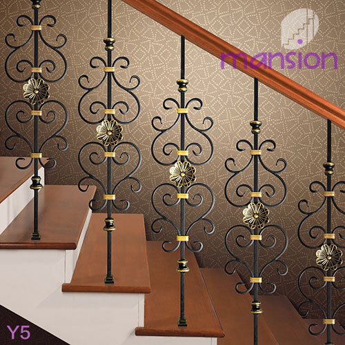 Decorative Wrought Iron Balusters With Crystal Ball