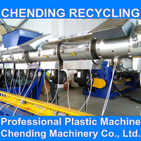 CHENDING waste plastic pe film recycling and granulating production line