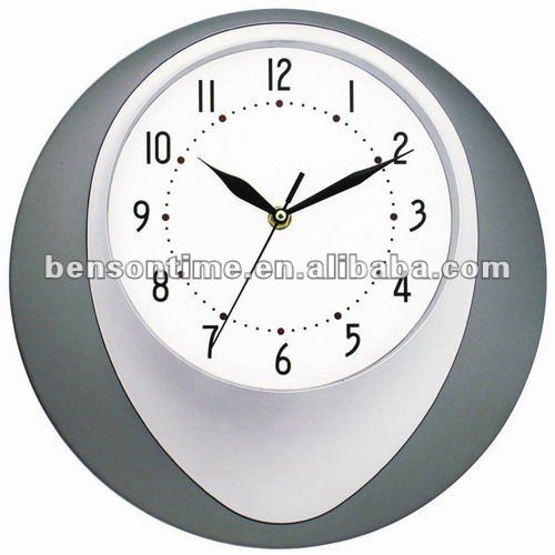 current time plastic wall clock