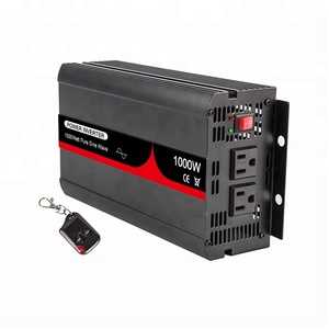 Excellent Quality 12VDC to 110VAC 60HZ 1000W Pure Sine Wave Solar Power Off Grid Inverter Energy Saver