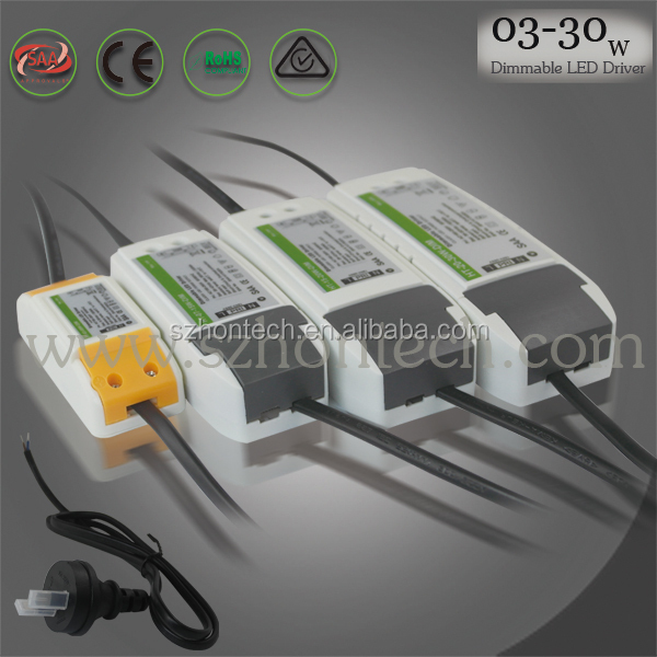13W constant current dimmable led light driver with dimming range 0-100% efficiency 85% CE SAA 3 years warranty