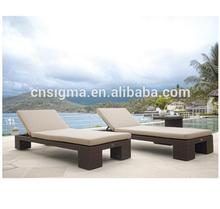 Hot selling classic all weather rattan outdoor seating daybed furniture