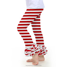 Wholesale Baby ruffle legging girls strips hot sale ruffle legging