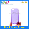 For iPhone 5 5G Fashion soft TPU gel S line style Back Shell phone Cover Case