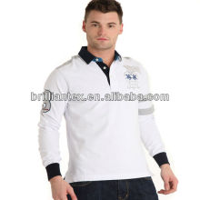 2012 latest newly design embroidered long sleeve polo t shirts for spring and autumn