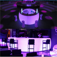 2018 hot selling outdoor commercial high top LED light cocktail bar table