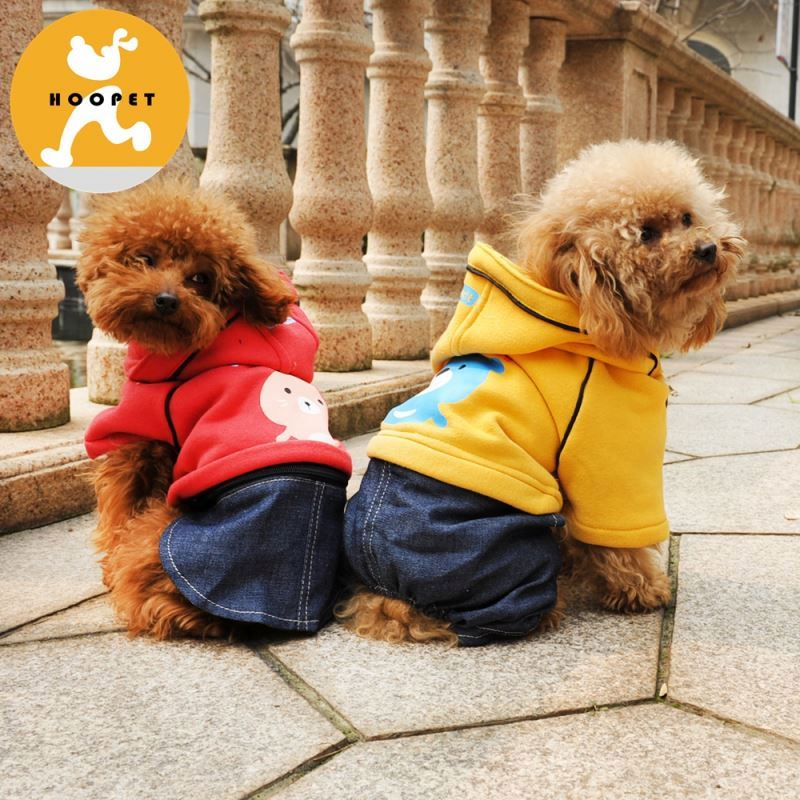 Cute winter two colors dog hoodies Pet cloth