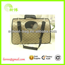Hot selling pu leather pet carrier bag for small pet