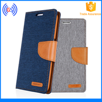 New Design Canvas Diary Case Mercury for IPhone 6S, 6S Plus, Goospery Leather Covers