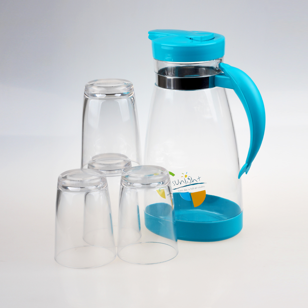 2000ml plastic kettle and cup (4 pcs)