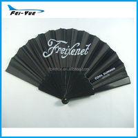 Customized logo black foldable Hand Fan Customized plastic