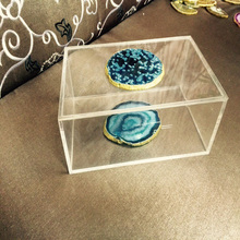 Hot sale new design discount acrylic gem case / acrylic jewellery box