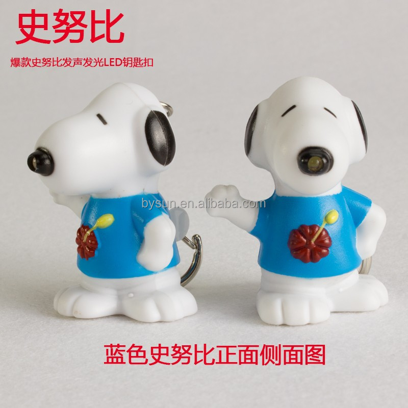 BS-382 Snoopy LED voice keyring