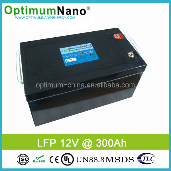 Deep Cycle Rechargeable Lithium Iron Phosphate Battery 12V 300Ah