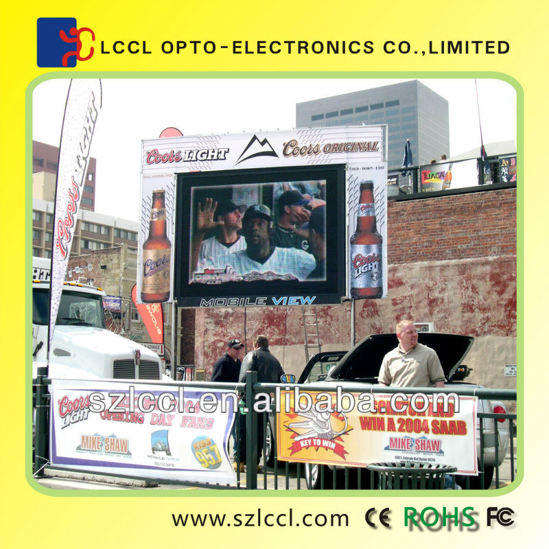 Hot sale in alibaba and ali express hot product outdoor P10 waterproof full color led display screen