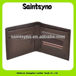 14323 2015 new product medium genuine leather front pocket wallet