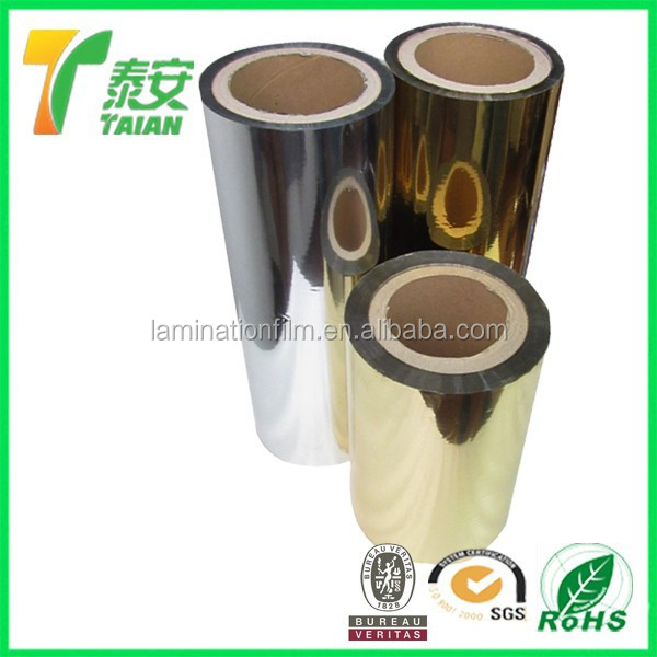 24micron Metallised Thermal Lamination Film and 24 Mic Mirror Protective Film Roll