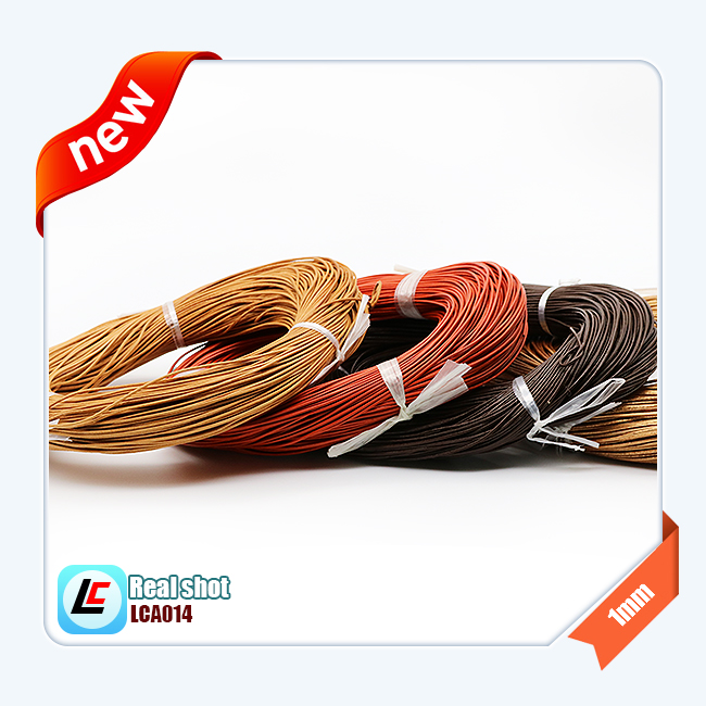 100% genuine cow round leather cord brown color 1/1.5/2/2.5/3/4/5/10mm