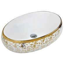 vitreous manufacturer7680GP bathroom oval above vanity sink with gold decorative