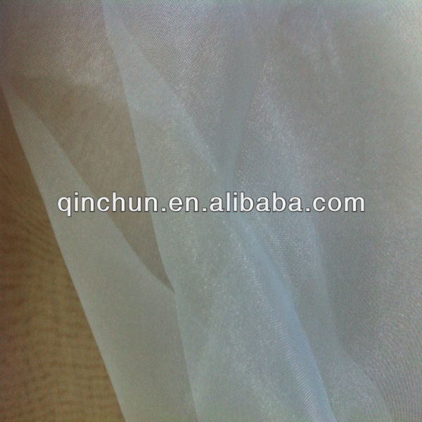 100% polyester light weight organza /tulle/organza fabric