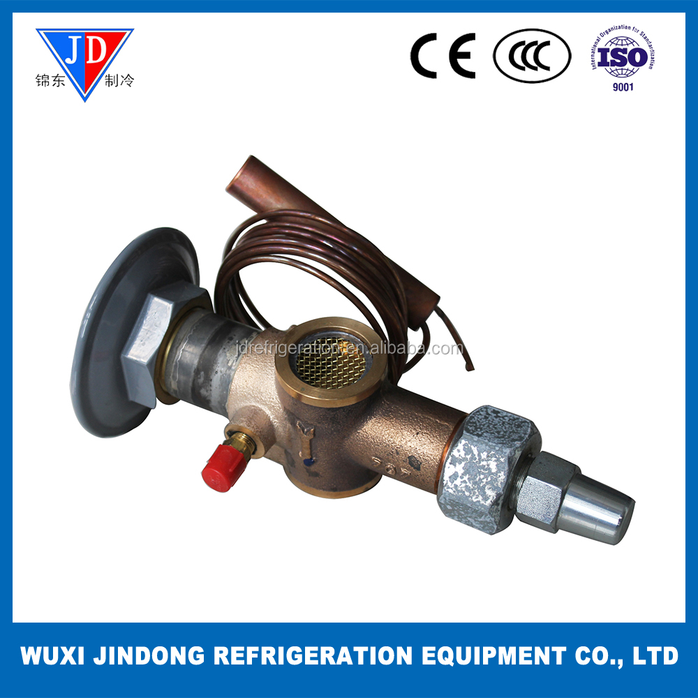 R407C refrigerant TXV VVE-100-CP100, thermostatic expansion valve with flange connection