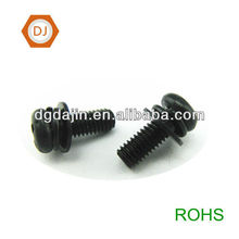 M3 cross recessed pan head screws combination screw with two washers