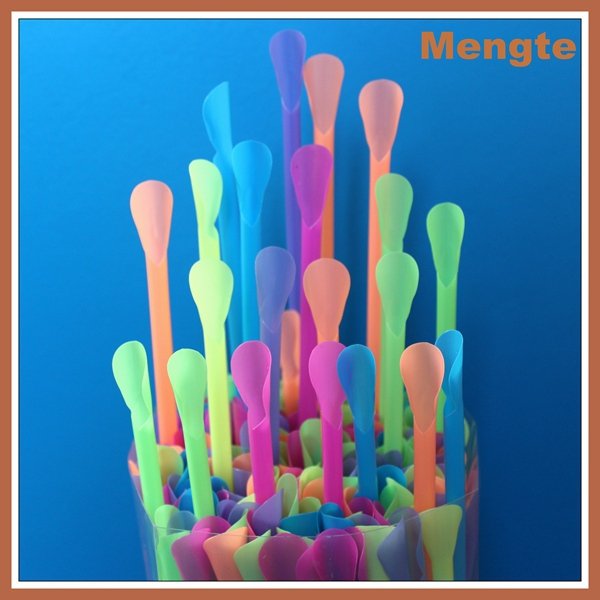 Jumbo Cold drinking multicolor wholesale plastic drinking spoon straws