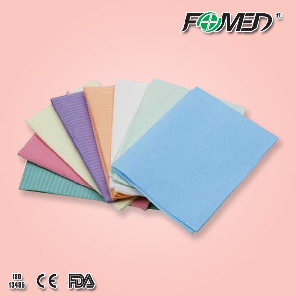 Disposable Dental Bib,2 Ply Paper + 1 Ply Poly Film,CEISO certificate