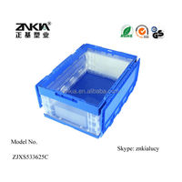 35L high strength PP with lid fold plastic box