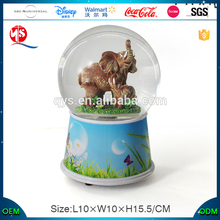 Home Decoration Statues Souvenirs Elephant Water Globe