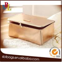 2016 fashion cosmetic case frame makeup bag with mirror