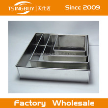 "5 Tier Multilayer Square Wedding Birthday Baking Cake Tins Pans 6"" 7"" 8"" 9"" 10"""