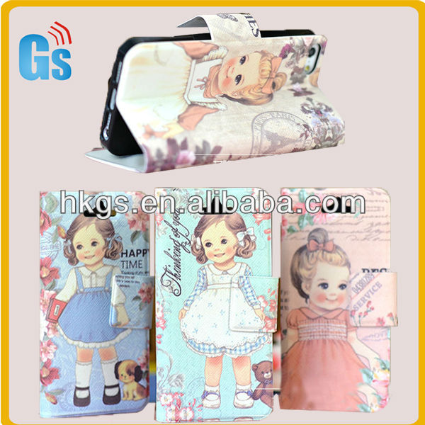 Dorable British Girl Wallet For i Phone5 Cases And Covers