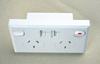 SAA certificated AU Power Point Australian/New Zealand usb wall socket 2 gang socket power outlet AU Power Point