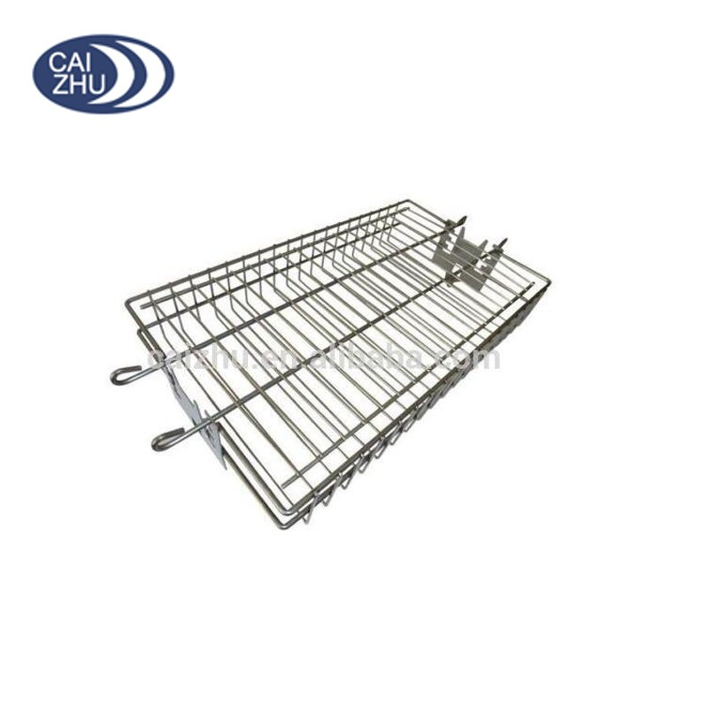 Bbq grilling basket rotisserie wire vegetable fish for Fish wire basket