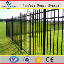 hot sale professional manufactory spear top tubular wrought iron fence with good appearence