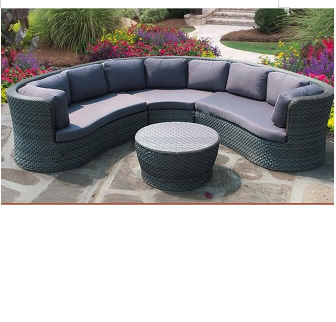 Most popular outdoor fiberglass wicker backyard sofa set furniture sale