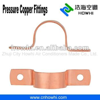 Copper pipe fitting, Copper Tube Strap - 2 Hole, for refrigeration and air conditioning
