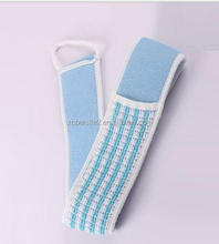 cy299 Natural Loofah Bath Scrub Brush Exfoliate Pull Back Strip Rub Back Belt Chopping Band Bath Towel