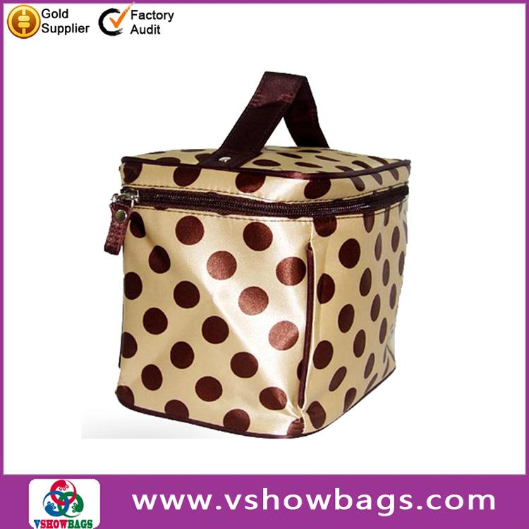 Wholesale Travel Cosmetic Bag,Women Makeup Case,Dot Polyester Cosmetic Case