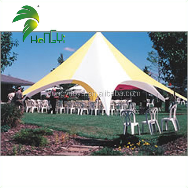 Outdoor Oxford Cloth Material Of Double Star Tent / White Advertrising Tent
