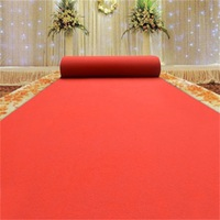 Red Plain Exhibition Carpet For Sale