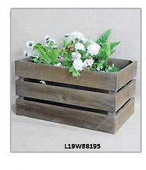 French style vintage Rustic handmade garden wooden flower pot