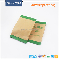 Best price small paper bag coated food grade side gusset greaseproof paper bag for food